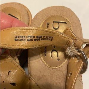 boc Shoes - Boc gold cork wedge peep toe sandals 7